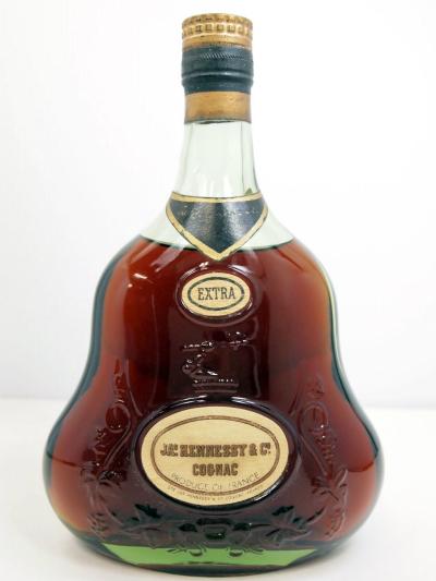 Hennessy EXTRA 金キャップ グリーンボトル