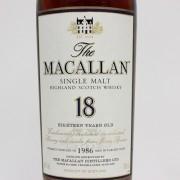 マッカラン 18年 1986
