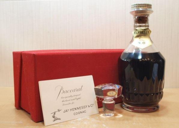 Hennessy ヘネシー XO バカラクリスタル 箱替栓付