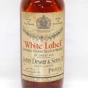 デュワーズ ホワイトラベル 旧ボトル ティンキャップ