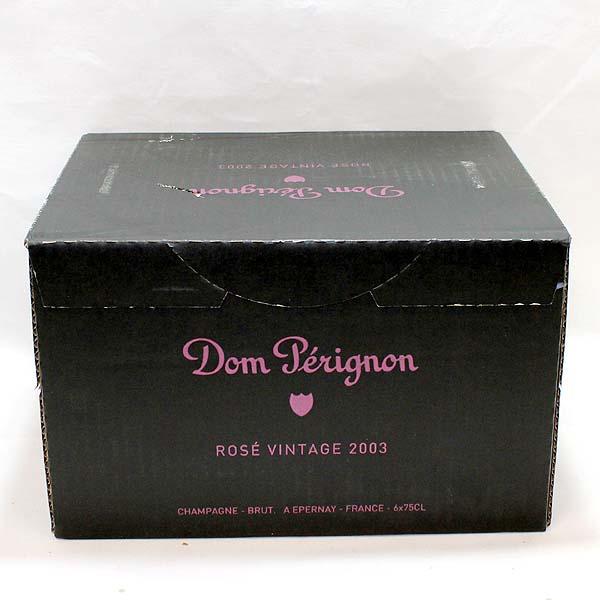 箱付未開封6本セット ドンペリニヨン ロゼ 2003年